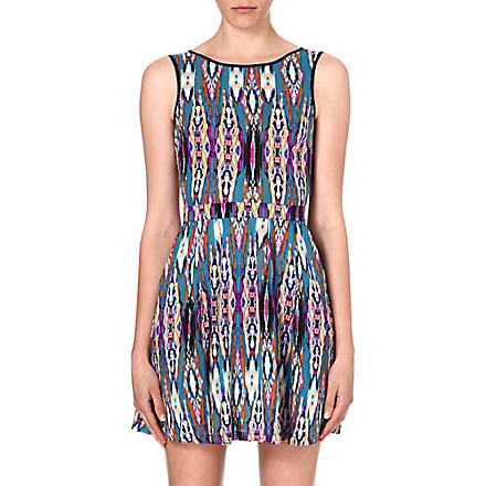 WAREHOUSE Linea aztec-print skater dress (Multi