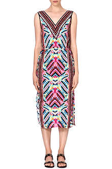 WAREHOUSE Summer Aztec midi dress
