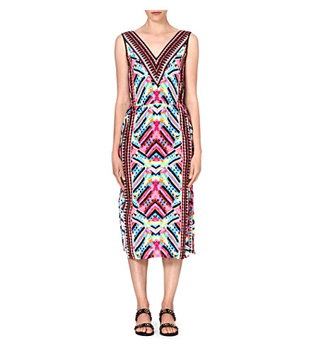 WAREHOUSE Summer Aztec midi dress (Multi