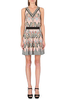 WAREHOUSE Engineered tribal skater dress