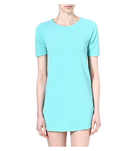 WAREHOUSE Textured crepe shift dress (Mint