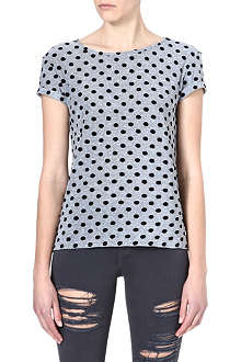 WAREHOUSE Polka dot-print t-shirt