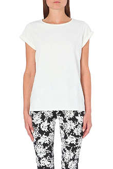 WAREHOUSE Floral jacquard t-shirt