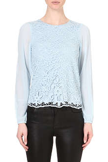 WAREHOUSE Guipure lace top