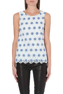 WAREHOUSE Daisy lace shell top