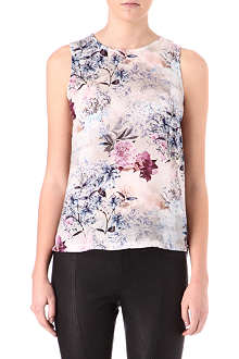 WAREHOUSE Floral-print top