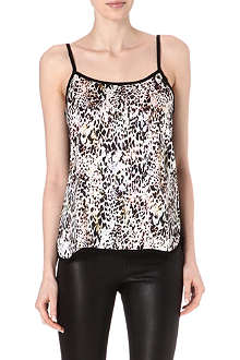 WAREHOUSE Animal print contrast camisole