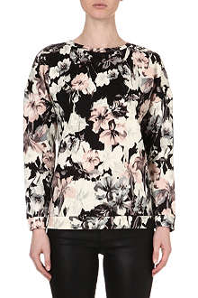 WAREHOUSE Blurred Lily printed sweatshirt