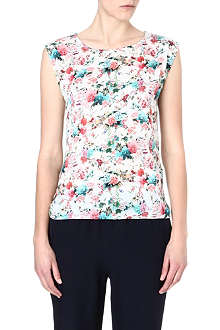 WAREHOUSE Japanese floral-print top