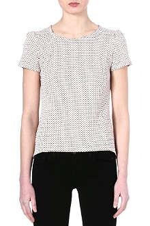 WAREHOUSE Spot jacquard top