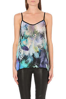 WAREHOUSE Feather print cami