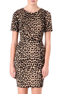 WAREHOUSE Leopard-print dress