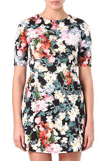WAREHOUSE Scuba floral-print dress