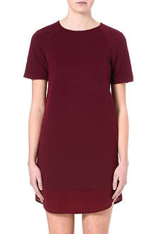 WAREHOUSE Circle quilted t-shirt dress