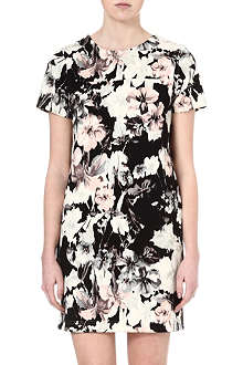 WAREHOUSE Blurred lily print dress
