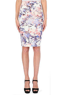 WAREHOUSE Scuba floral print co-ord skirt
