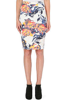 WAREHOUSE Floral brushstroke co-ord skirt
