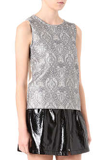 WAREHOUSE Metallic jacquard top