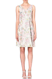 WAREHOUSE Floral-print lace dress