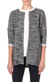 WAREHOUSE Boucle striped cardigan
