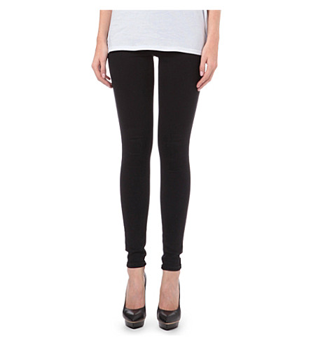 WAREHOUSE Skinny high-rise jeans (Black