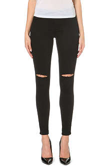 WAREHOUSE Skinny mid-rise slash knee jeans