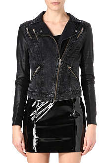 WAREHOUSE Denim biker jacket
