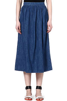 WAREHOUSE Denim midi-skirt