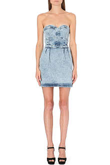 WAREHOUSE Denim bustier dress
