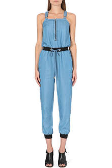 WAREHOUSE Zip front jogger jumpsuit