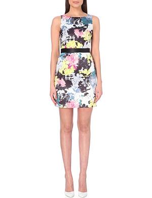 WAREHOUSE Floral satin dress