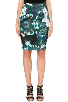 WAREHOUSE Enlarged Floral print skirt