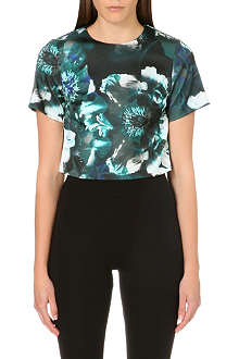 WAREHOUSE Enlarged Floral printed top