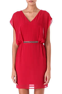 WAREHOUSE Embellished-waist dress