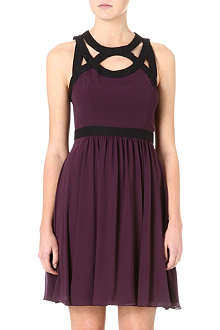 WAREHOUSE Contrast-strap dress