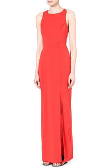 WAREHOUSE Twisted-back maxi dress