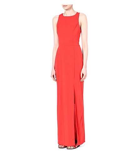 WAREHOUSE Twisted-back maxi dress (Orange