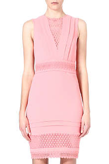 WAREHOUSE Broderie Anglaise bodycon dress
