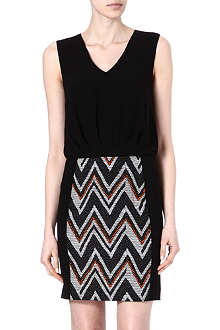 WAREHOUSE Chevron dress