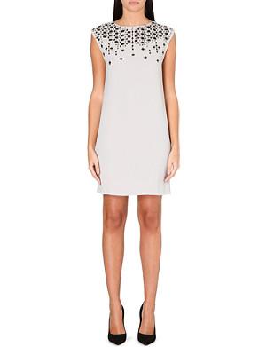 WAREHOUSE Scatter-embellished shift dress