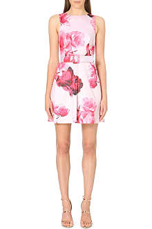 WAREHOUSE Rose print dress