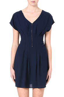 WAREHOUSE Zip front tuck dress