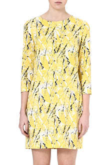 WAREHOUSE Textured print dress