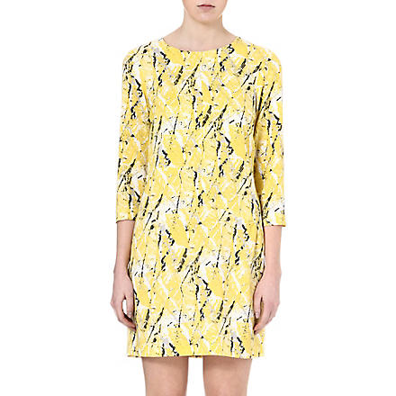 WAREHOUSE Textured print dress (Yellow