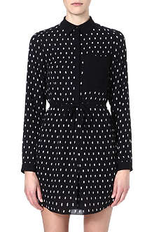 WAREHOUSE Polka dot-print shirt dress
