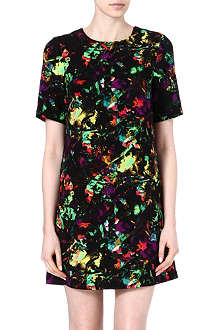 WAREHOUSE Tropical fluro print shift dress