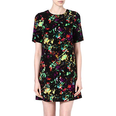 WAREHOUSE Tropical fluro print shift dress (Multi