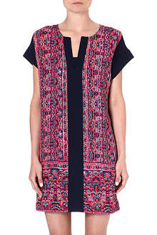 WAREHOUSE Border print shift dress