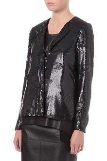 WAREHOUSE Sequin biker jacket