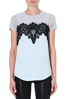 WAREHOUSE Scallop lace t-shirt